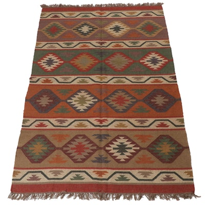 5' x 8'4 Handwoven Turkish Kilim Rug