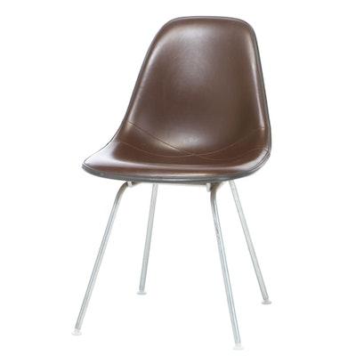 Mid Century Modern Herman Miller Eames DSX Fiberglass Padded Shell Chair