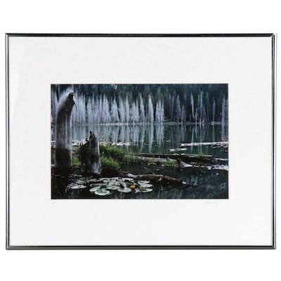 Michael Bauer Color Landscape Photograph of Mountain Lake
