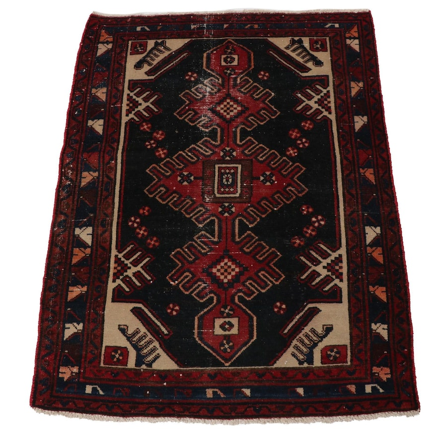 3'6 x 4'9 Hand-Knotted Northwest Persian Rug, 1970s