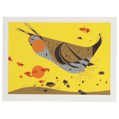 "Serigraph after Charley Harper ""Heath Hen"""