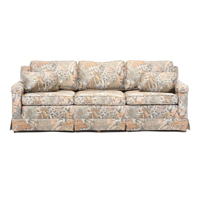 Ethan Allen Printed Cotton Sofa, Mid-20th Century