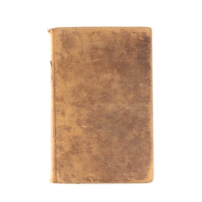 "1844 Leather Bound ""Plutarch's Lives"" by Langhorne"