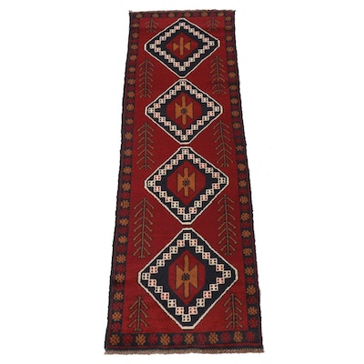 2'5 x 8'1 Hand-Knotted Afghani Baluch Runner Rug