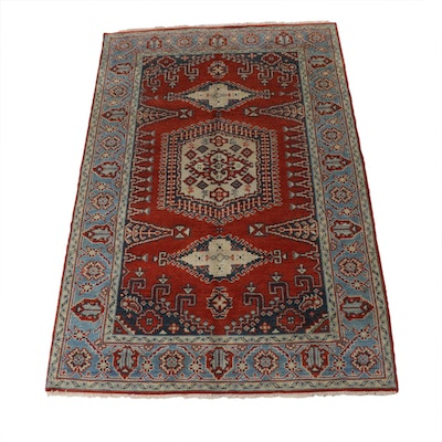 5'1 x 8'2 Hand-Knotted Indo-Turkish Oushak Rug