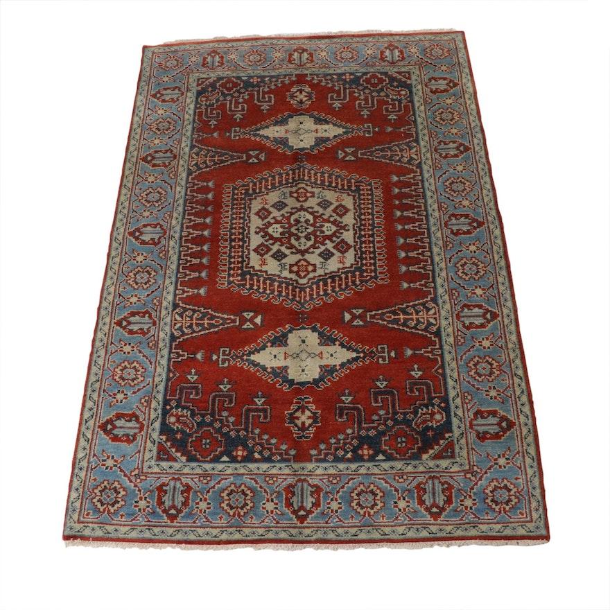 5'1 x 8'2 Hand-Knotted Indo-Turkish Oushak Rug