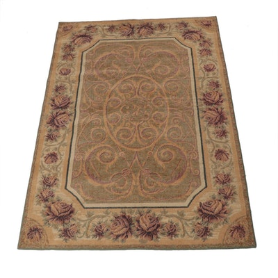 5'3 x 7'9 Power-Loomed European William Morris Style Rug