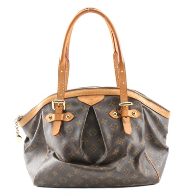Louis Vuitton Tivoli Shoulder Bag in Monogram Canvas and Vachetta Leather