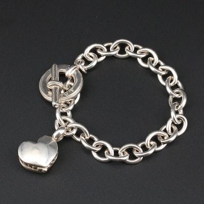 Lagos Sterling Silver Heart Charm Bracelet