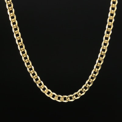 Sterling Silver Textured Curb Link Chain