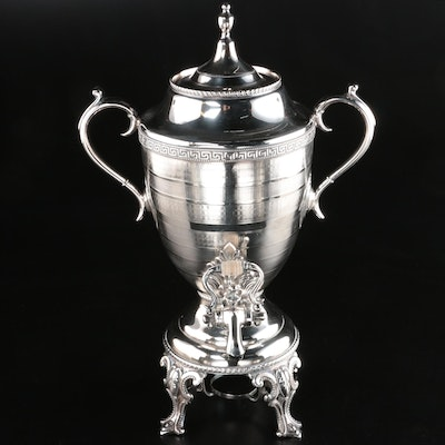 Neoclassical Style Silver Plate Hot Water/Tea Urn, Late 19th/Early 20th Century