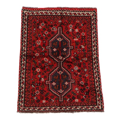3'6 x 4'10 Hand-Knotted Persian Wool Rug