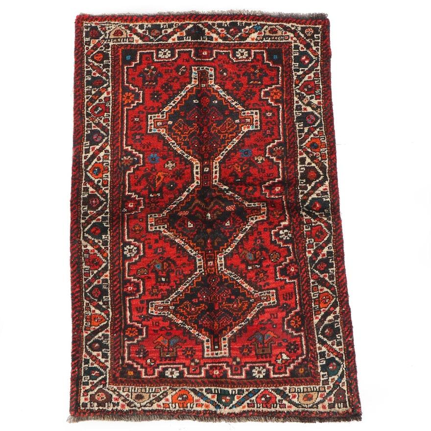 3'5 x 5'6 Hand-Knotted Persian Kelardasht Wool Rug