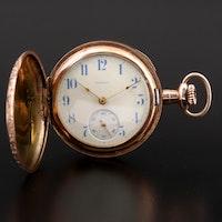 Antique Illinois Gold Filled Hunter Case Pocket Watch, 1915