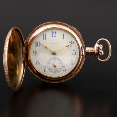 Antique Illinois Gold Filled Hunter Case Pocket Watch, 1915
