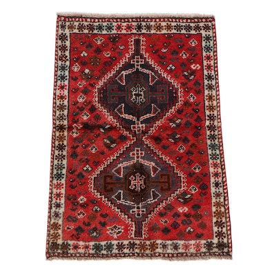 3'5 x 5'0 Hand-Knotted Persian Shiraz Wool Rug
