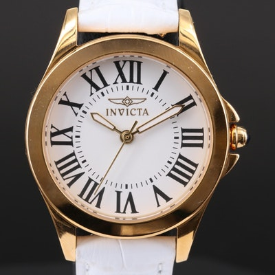 Invicta Angel Gold Tone Quartz Wristwatch with Variety of Bracelets