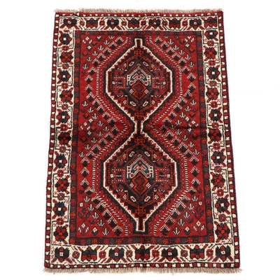 3'6 x 5'5 Hand-Knotted Persian Shiraz Wool Rug
