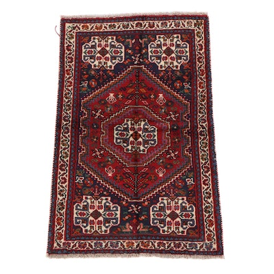 3'2 x 5'0 Hand-Knotted Persian Abadeh Wool Rug