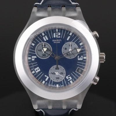 Swatch Irony Diaphane Thunderstorm Quartz Chronograph Wristwatch