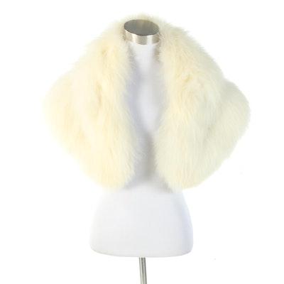 White Fox Fur Stole, Vintage