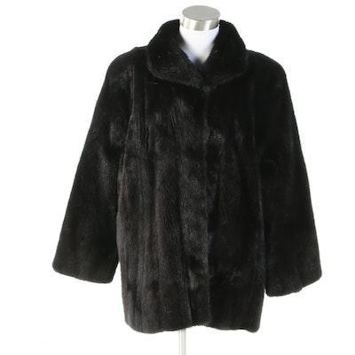 Saga Mink Black Ranched Mink Fur Jacket from Gittelman's Sons