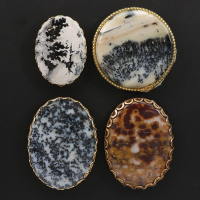 Framed Mixed Cut Jasper and Agate Mineral Specimens