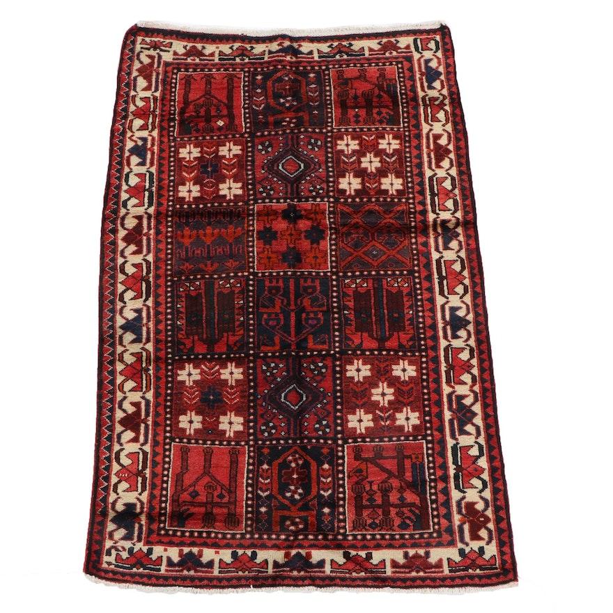 4'11 x 7'10 Hand-Knotted Persian Bakhtiari Wool Rug
