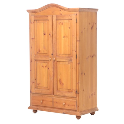 American Colonial Style Pine Wardrobe or Media Cabinet