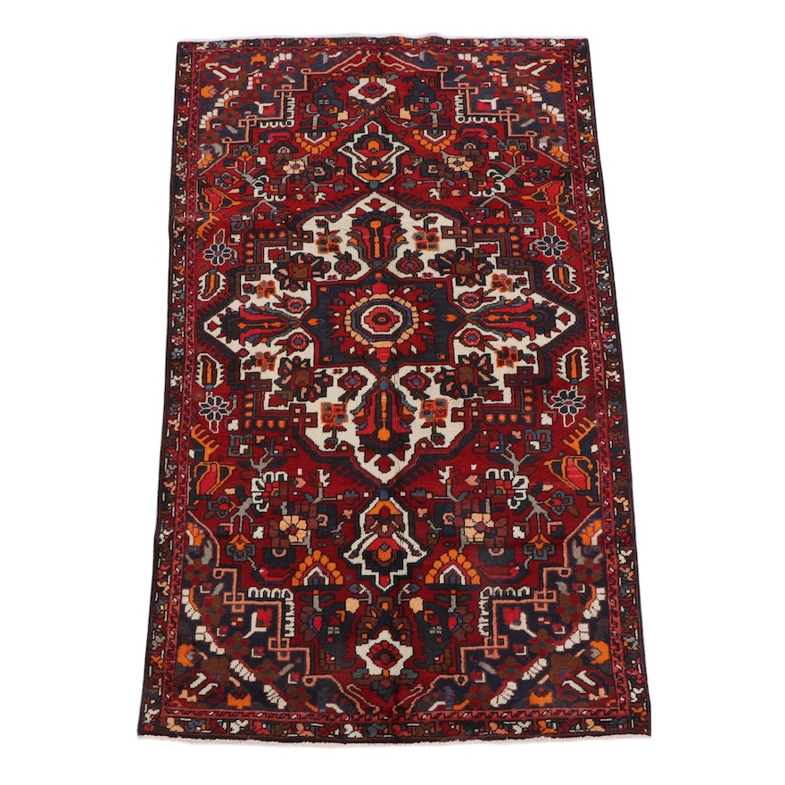 5'0 x 8'8 Hand-Knotted Persian Ahar Wool Rug