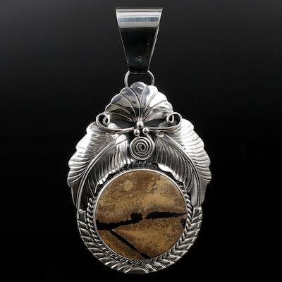 Southwestern Sterling Silver Jasper Pendant