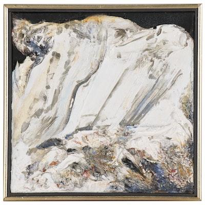 """Heavy Impasto Abstract Oil Painting """"Leadville 35"""", 1995"""