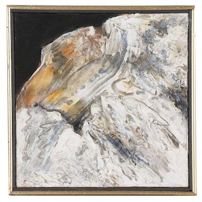 """Heavy Impasto Abstract Oil Painting """"Leadville 34"""", 1995"""