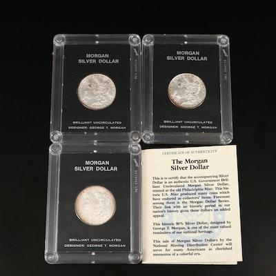 1897, 1898 and 1900 Morgan Silver Dollars