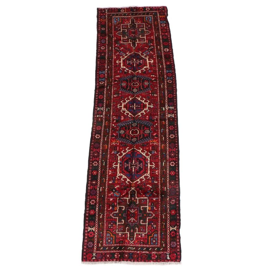 3'1 x 10'7 Hand-Knotted Persian Karaja Wool Long Rug