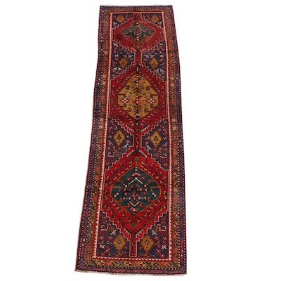 3'5 x 11'5 Hand-Knotted Persian Yalameh Wool Long Rug