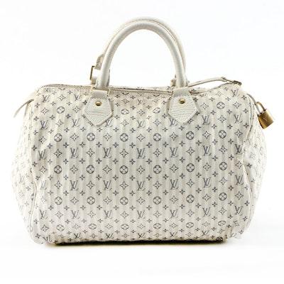 Louis Vuitton Speedy 30 Bag in Monogram Mini Lin Croisette Canvas and Leather