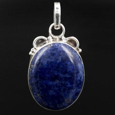 Southwestern Style Sterling Silver Lapis Lazuli Pendant