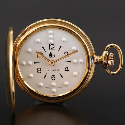 American Foundation for the Blind Braille Pocket Watch