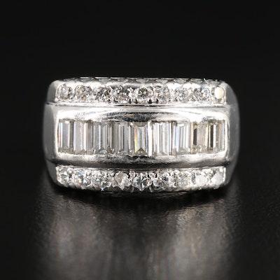 Platinum 1.24 CTW Diamond Ring