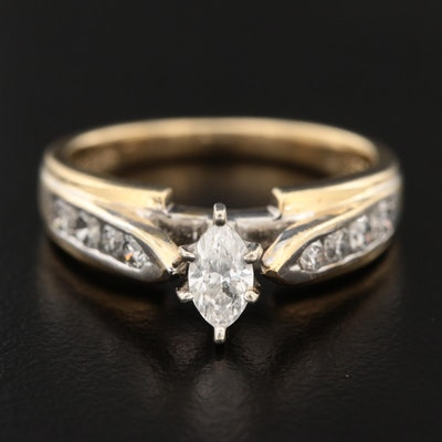 14K Yellow Gold 0.67 CTW Diamond Ring