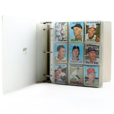 1967 and 1968 Topps Baseball Starter Sets in Vinyl Binder, Hall of Fame Players