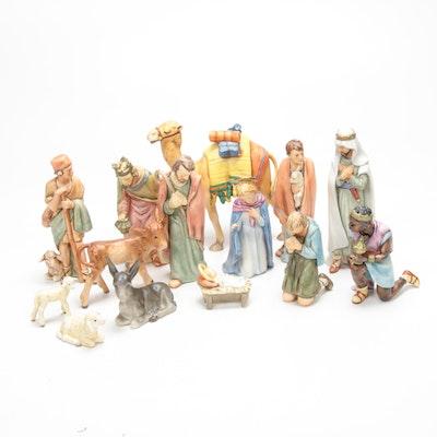 Goebel Porcelain Nativity Scene Figurines