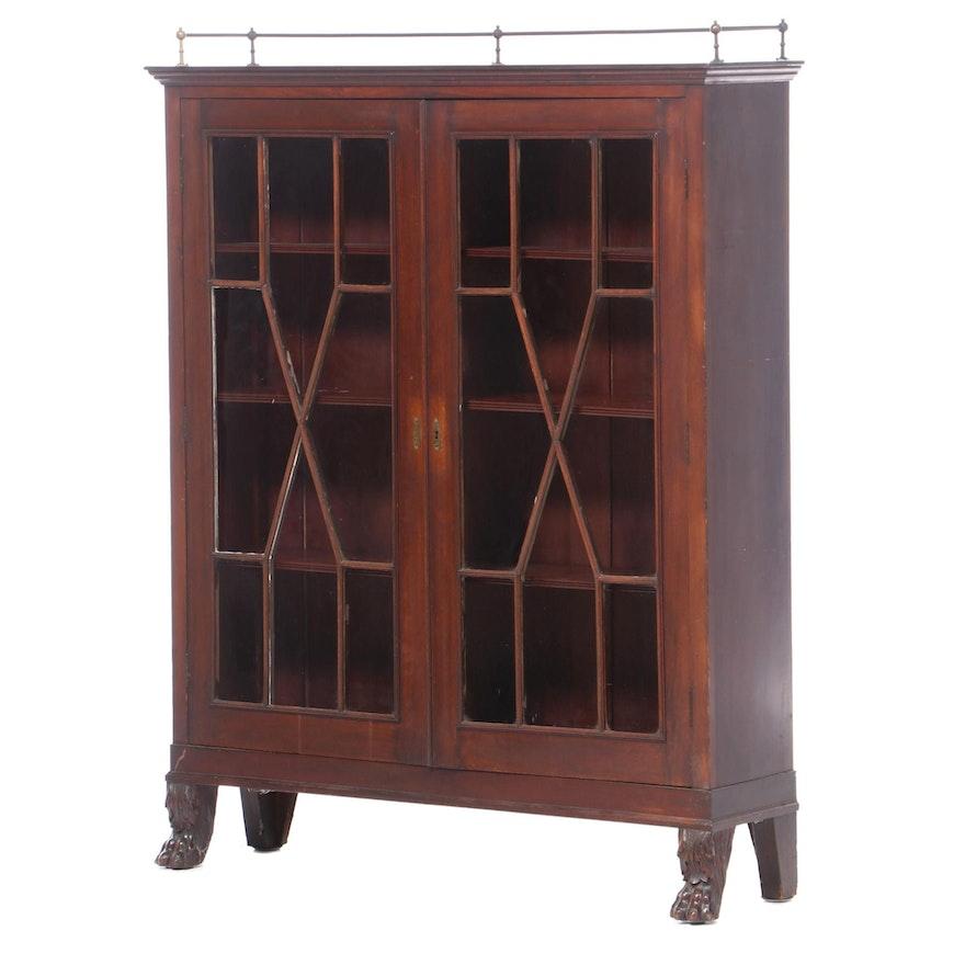 Empire Revival Mahogany Bookcase, Early 20th Century