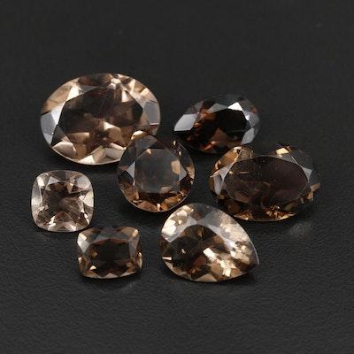 Loose 50.27 CTW Smoky Quartz Gemstones