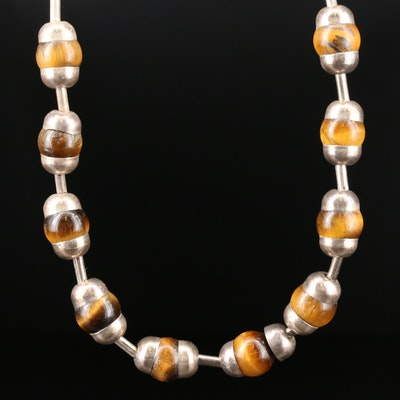 Sterling Silver Tiger's Eye Necklace