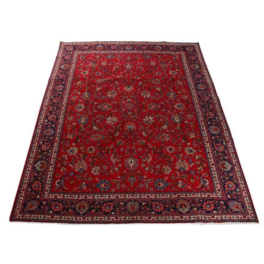 9'8 x 12'10 Hand-Knotted Persian Tabriz Room Size Rug, 1970s