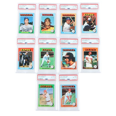 1975 Topps Mini Baseball Cards Professionally Graded by PSA