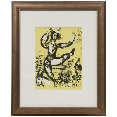 "Marc Chagall Color Lithograph ""Le Cirque,"" 1960"