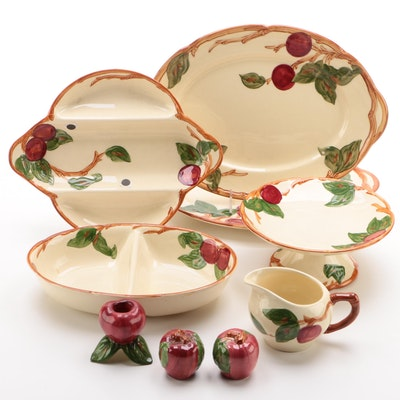 "Franciscan ""Apple"" Earthenware Serveware and Table Accessories"